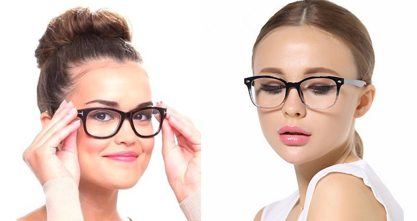 Angular Glasses For Round Shape