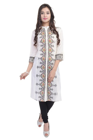 Chinese Collar Kurties