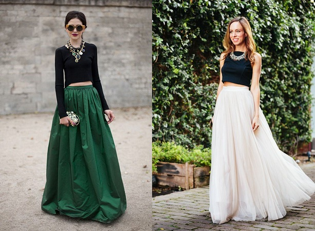 Crop Tops With Maxi Skirts