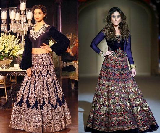 Designer Lehenga with long sleeve