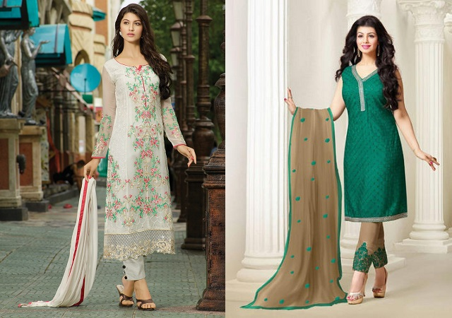 Salwar Kameez With Cigarette Pants