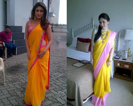 Colour Blocked Saree By Kareena Kapoor