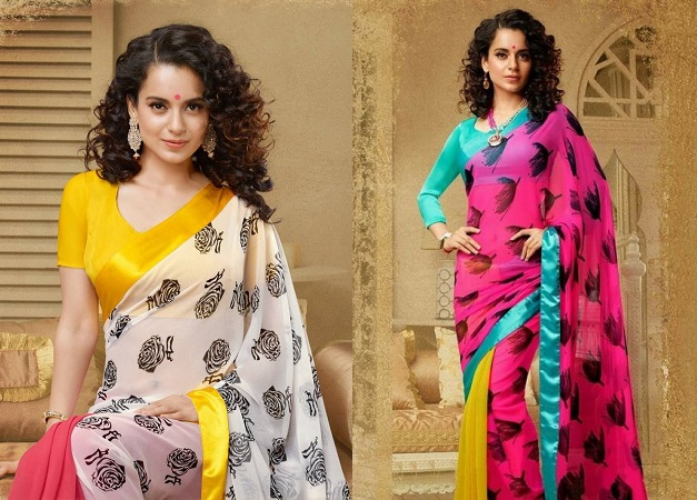 Self-Print Saree From Kangana Ranaut