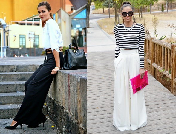 Formal And Casual Look In Palazoo Trousers
