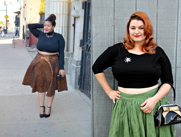 Crop Top With Skirt For Plus Size Women