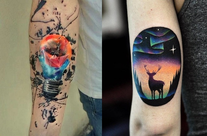 Coloured Tattoos