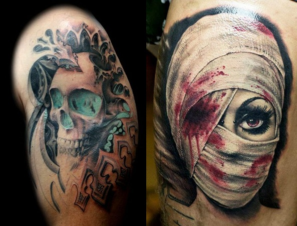 Gothic Or Horror Tattoos