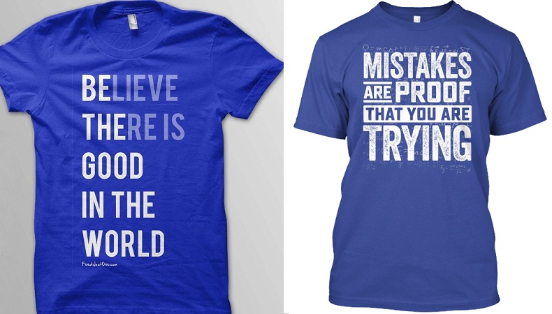 Quoted t-shirts