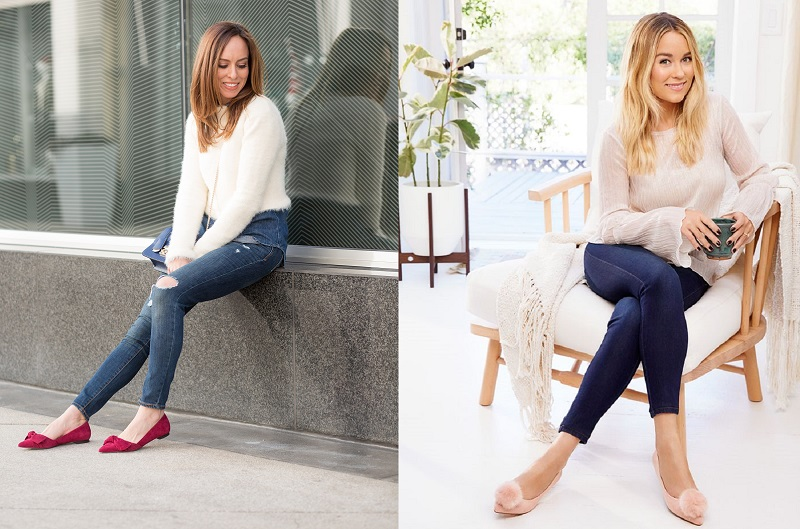 Flats with Skinny Jeans