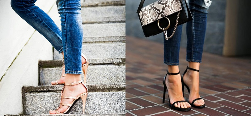Strappy Heels with Skinny Jeans